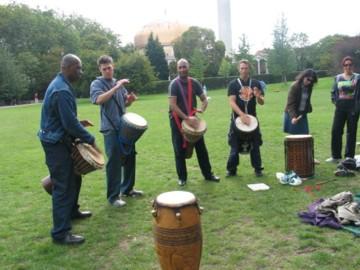 drumming at picnic 2004 in Regents Park