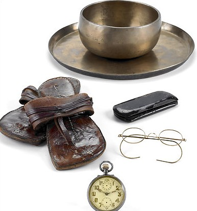 Gandhi's life belongings