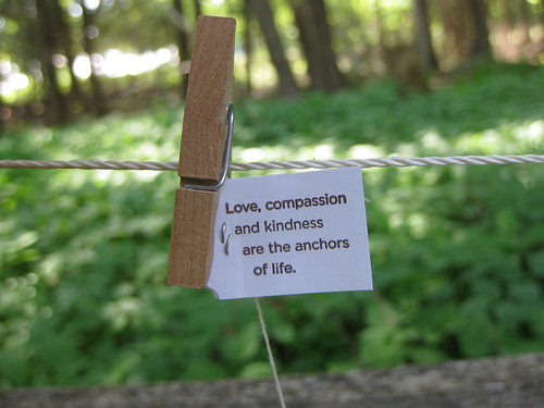 Compassion and kindness is what the world needs
