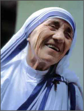 Mother Teresa's joyous smile